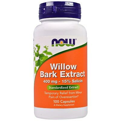 White Willow Bark - 100 - 400mg Capsules by Now Foods - Stress Response