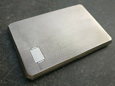 Solid State Engine Turned cigarette case Birmingham 1940