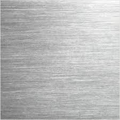 """Alloy 304, 18 GA, Stainless Steel Brushed Sheet Plate w/ PVC - 12"""" x 36"""" (F)"""