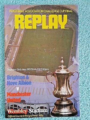 1983 - FA CUP FINAL REPLAY PROGRAMME - BRIGHTON v MANCHESTER UNITED