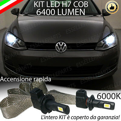 Kit Lampade Anabbaglianti Led Volkswagen Golf 7 Led H7 6000K 6400 Lumen No Error