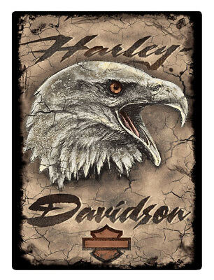Harley-Davidson Rugged Eagle Card Embossed Tin Sign, 12.5 x 17 inches 2011391