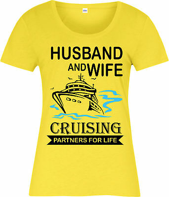 Parents Day Ladies T-Shirt,Husband and Wife Cruising Partners,Inspired Design