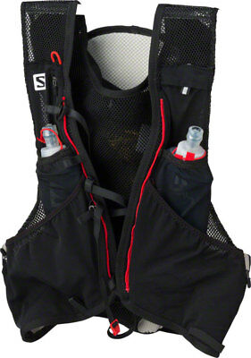 Salomon ADV Skin 5 Set Hydration Vest: Black/Matador XL