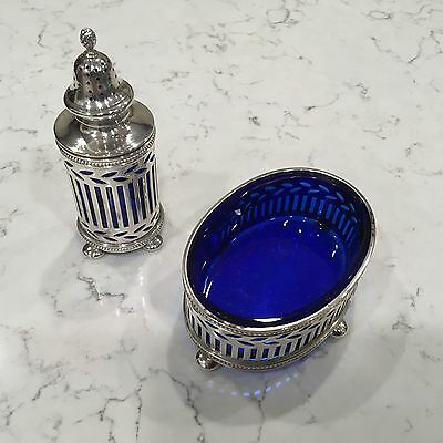 Tiffany & Co. Makers Sterling Silver Salt and Pepper Set Circa early 1900's