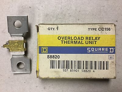 Square D Overload Relay Thermal Unit CC156-NIB