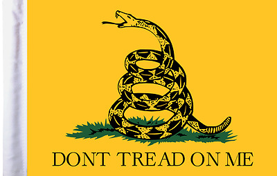 "Pro Pad 6"" x 9"" Don't Tread on Me Motorcycle Flag for 3/8"" Pole"