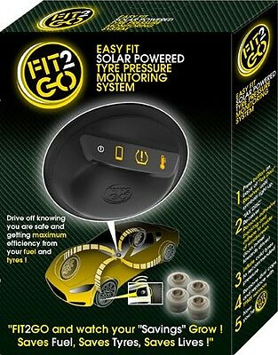 FIT2GO Tyre Safety System 4 Sensors User Friendly & Reduced Price Tyre Checker