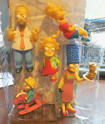 The Simpsons Movie Figurines, Set of Five Collectible Family Figures NEW