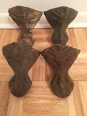 Antique Victorian Ball Eagle Claw Foot Bathtub Tub Feet OLD Cast Iron Vintage