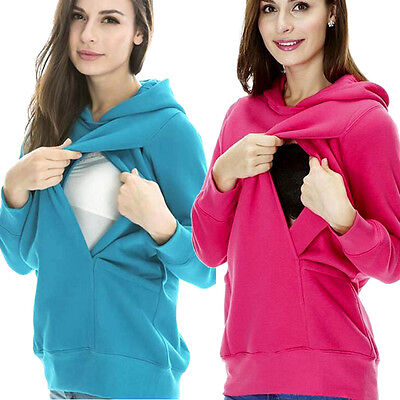 Maternity Nursing Hoodie Hooded Warm Baby Breastfeeding Clothing Pregnancy Shirt