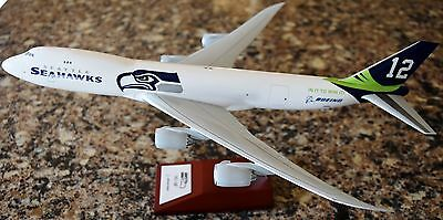 ❤️⭐New Hogan 😍🔥👍 SEATTLE SEAHAWKS/BOEING 747-8💎💋 1:200 Scale Airplane Model