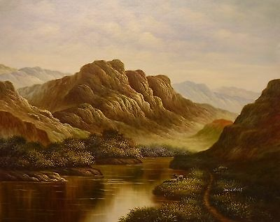 Highland valley 24x20 signed OIL PAINTING on flat canvas DALLIN HINES
