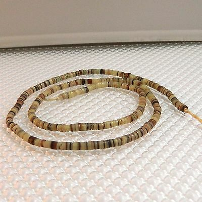 Vintage Shell Heishi Beads, Approximately 3.5 - 4mm, 22 inches Long  #3