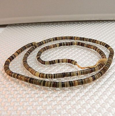 Vintage Shell Heishi Beads, Approximately 4 - 4.5mm, 24 inches Long  #4