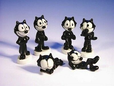 Full Set Of 6 Wade Felix The Cat Whimsies 2006, Popular Series *mint Condition*