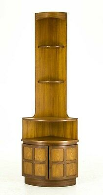 B440 Mid Century Modern Teak Corner Cabinet, Curio Cabinet, Produced by Nathan