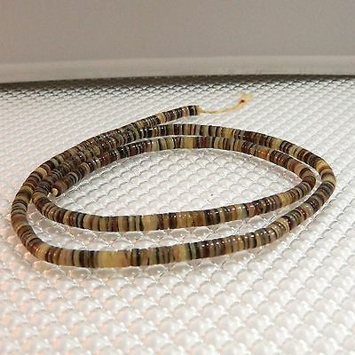 Vintage Shell Heishi Beads, Approximately 4mm - 4.5mm, 24 inches Long  #10