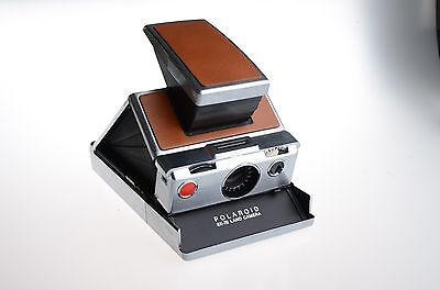 Polaroid SX-70 Near Mint with Original Leather Case,Tested!