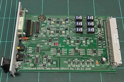 Omnitronics 950TM Tape Monitor card 9000 series 6 Available