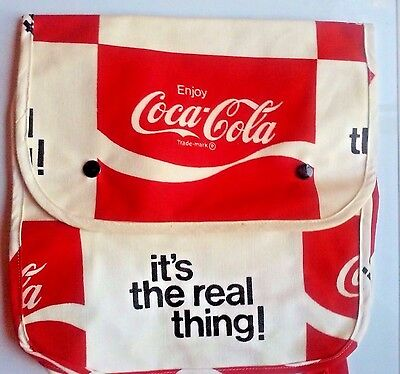 Vintage 1970's Coca-Cola Coke Canvas Beach Backpack Bag New