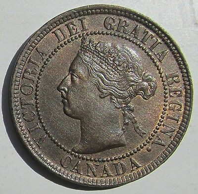 Canada, 1901 Large Cent 1c Penny, Victoria, High Grade