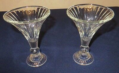 Two Vintage Antique Store Glass Shelf Risers Soda Fountain Display Shelves