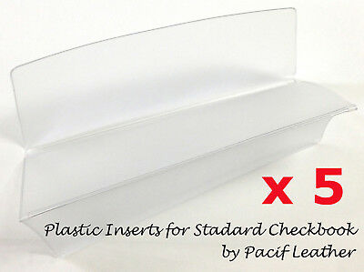 5 pc Clear Checkbook Divider Insert Protector Cover for Standard Duplicate Check