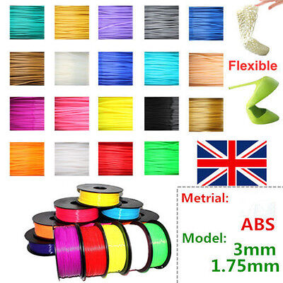 3D Printer Filament ABS PLA 1Kg 3MM 1.75MM Roll For Huxley Leapfrog Makerbot UP