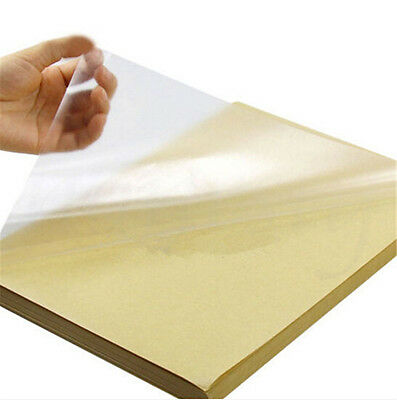 30/50pcs Clear Transparent A4 Film Sticker Paper Self Adhesive For Laser Printer