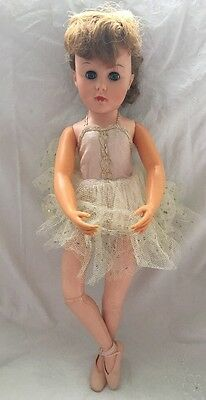 Vintage VALENTINE 17 VW BALLERINA Doll With Original Outfit & Ballet Shoes 18""