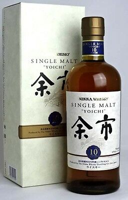 Nikka Yoichi 10 Year Old Single Malt Japanese Whisky - whiskey japan pure