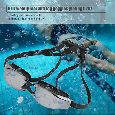 REIZ D207 Adjustable Waterproof Anti-Fog UV Protective Swimming Goggles I5