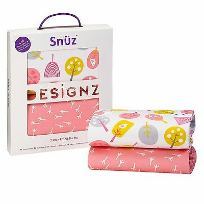 Snuz Baby Nursery Sleeping SnuzPod Crib Fitted Sheet - Twin Pack - Little Tweets