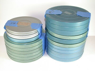 20 Regular 8 400' & 300' Film Reels and Cans with Home Movies Included
