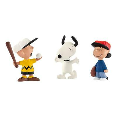 Schleich Peanuts Scenery Pack Baseball Charlie Brown Lucy Snoopy Figures 22043