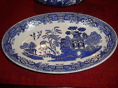 WOODS Blue & White WILLOW Pattern JUG ENOCH 1784 RALPH 1750  ##AX2