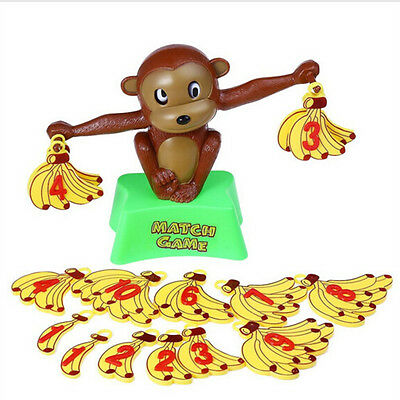 Funny Monkey Bananas Numbers Balance Educational Plastic Toy Math Match Game