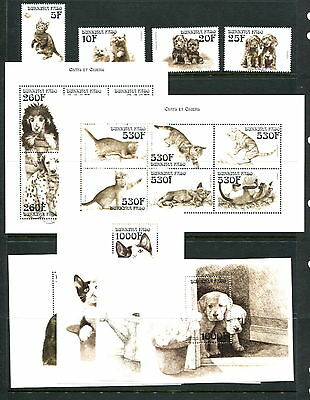 Burkina Faso #1136-45 cats dogs puppies kittens complete set    1999- MNH-D419