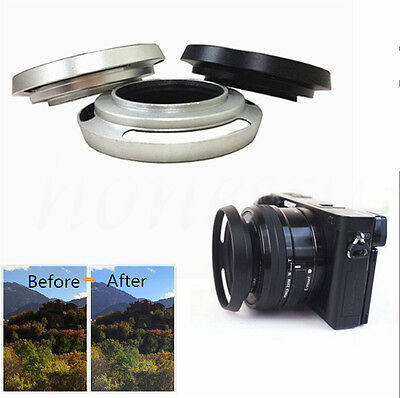 40.5mm Metal Vented Lens Hood For Canon Olympus Leica M Contax Fujifilm Sony