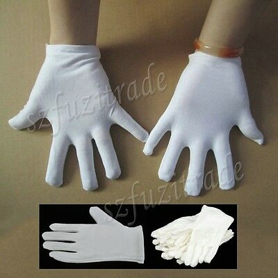 White Unisex Short Gloves For Captain Adlt Clown Magician Costume Fancy Dress BJ