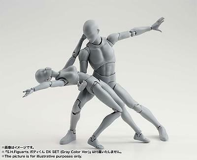 KUN+CHAN DX Ver 2 Stück Set NIB S.H.Figuarts Gray He She Body Action Figur NEU