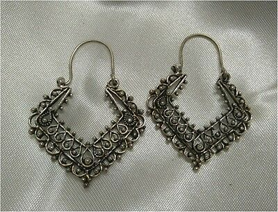 Bollywood Antique Fashion silver plated women/girls Hoop Earring rge_march17_065