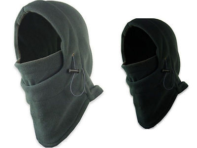 1X Mens Black Snood Fleece scarf Hood Balaclava Neck Winter Warmer Face Mask CEA