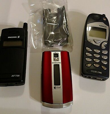 3 Vintage cell phones