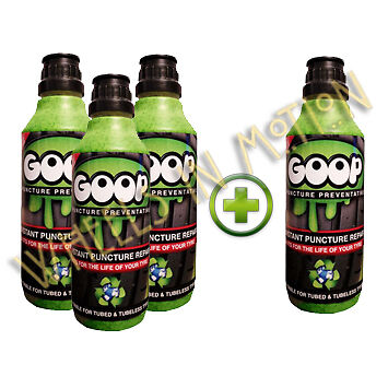 Goop Tyre Puncture Sealant Puncture Preventer / BUY 3 500ml Bottles GET 1 FREE