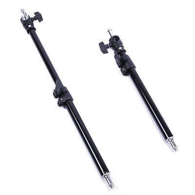 Extension Rod Stick Pole 4 Boom Light Stand Metal Column 34cm - 55cm