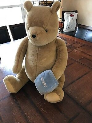 "Disney Classic Winnie the Pooh Bear with Hunny Pot Gund Giant 20"" Plush"