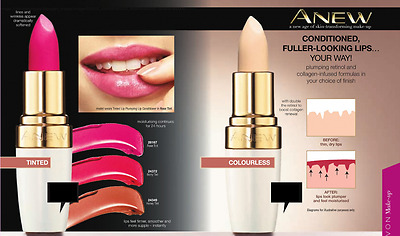 Avon Anew Lip Plumping Lip Conditioners ~ Colourless/tinted Shades **free P&p**