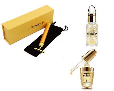Bioaqua 24K Gold Skin Moisturising Whitening Serum Energy Beauty Bar Massage UK